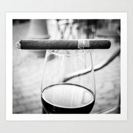 Cigar in Cali Art Print