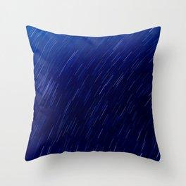 Star Trails 3.75 Blue Throw Pillow