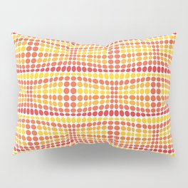 Dottywave - Orange Yellow wave dots pattern Pillow Sham