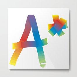 A* rainbow Metal Print