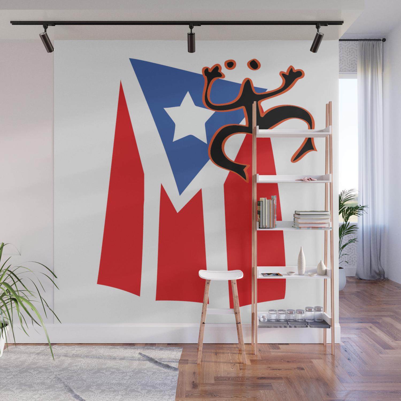 Mi Bandera Puerto Rico Wall Mural By Pmsarchitect Society6
