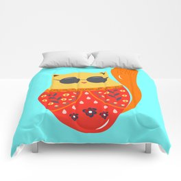 Undercover cat Comforters