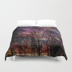Life in the forest Duvet Cover