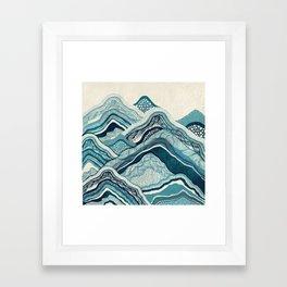 Blue Hike Framed Art Print