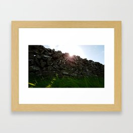 Stone Wall Framed Art Print