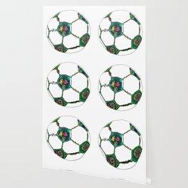 Floral Soccer Ball Wallpaper