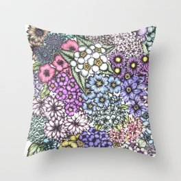 A Bevy of Blossoms Throw Pillow