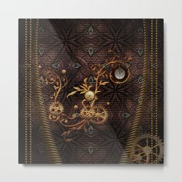 Steampunk, gallant design Metal Print