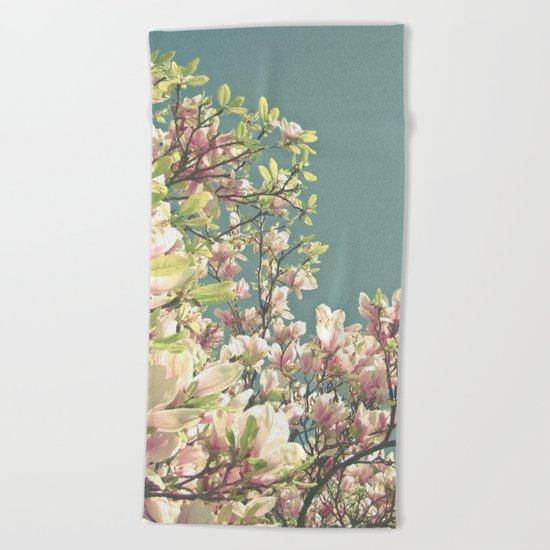 Magnolia in Bloom Beach Towel