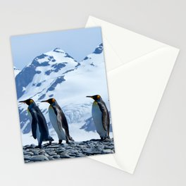 King Penguins at South Georgia Stationery Cards