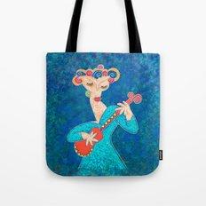 Red Guitar Tote Bag