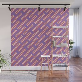 Frying Bacon Over Purple Wall Mural