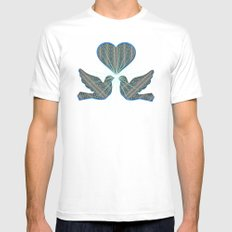 Windy Garden White Mens Fitted Tee SMALL