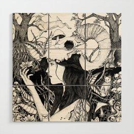 Nature goddess original Wood Wall Art