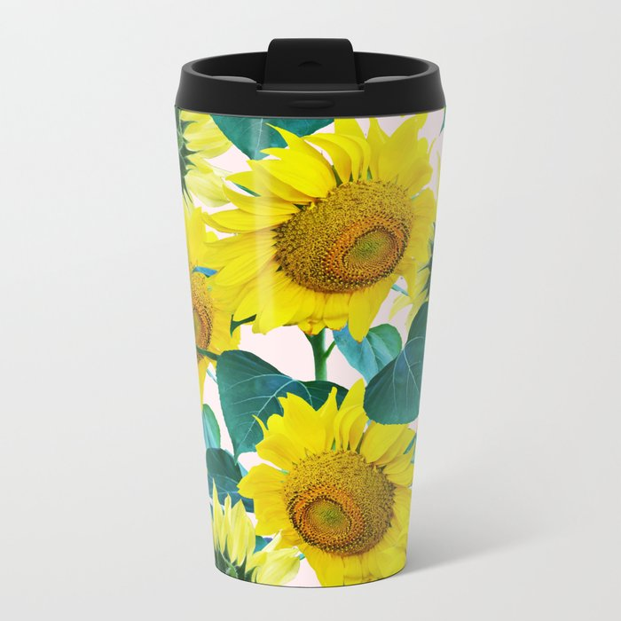 Sun Flowers #society6 #decor #buyart Metal Travel Mug