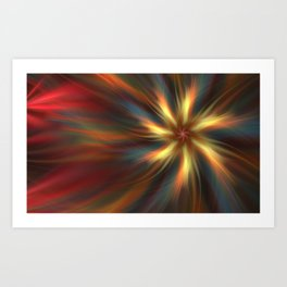 Abstract wallpaper. Fractal background Art Print