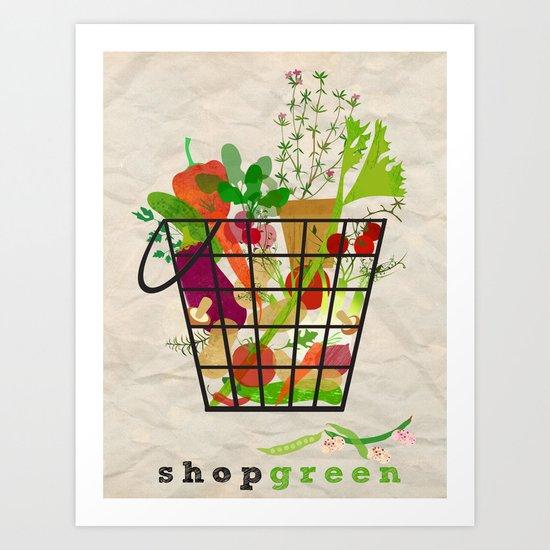 Shop Green Art Print