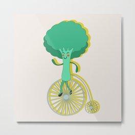 Broccoli Sportsman Metal Print