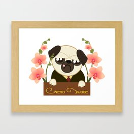 Pug. Great Detective Nero Pugge Framed Art Print