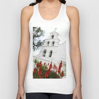 san diego Tank Tops featuring San Diego Mission by Henrik Lehnerer