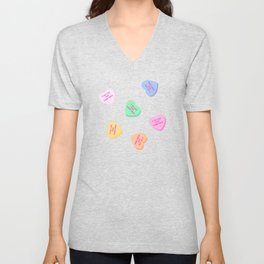 It Be Like That Sometimes - Candy Hearts Valentine's Day Unisex V-Neck
