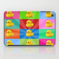 duck iPad Cases featuring duck by mark ashkenazi
