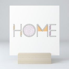 'Home' - Typography 002 Mini Art Print