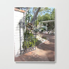 Sherman Library and Garden Metal Print