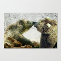 bears Canvas Prints featuring Bears by Julie Hoddinott
