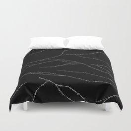 Stitches (Black) Duvet Cover