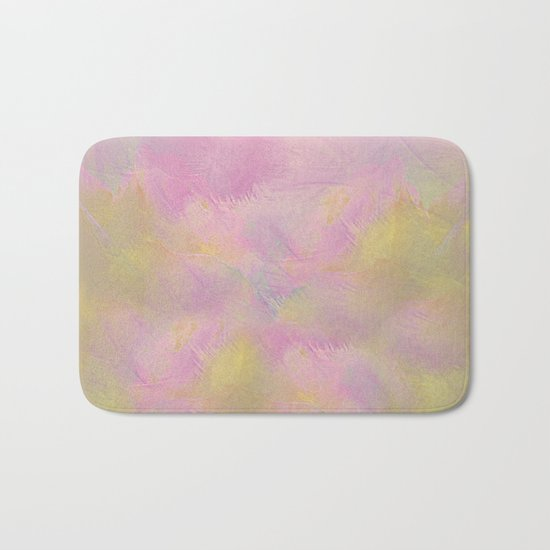 Soft Pastel Feathered Abstract Bath Mat