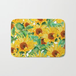 sunflower pattern Bath Mat