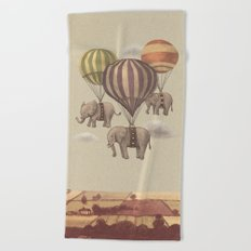 Flight of the Elephants  Beach Towel