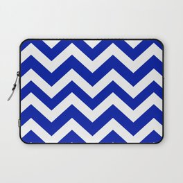 Blue (Pantone) - blue color - Zigzag Chevron Pattern Laptop Sleeve