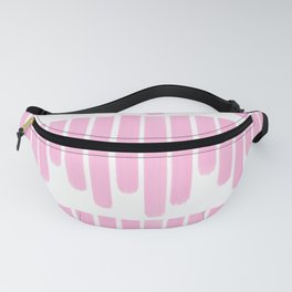 Pink Paint Stripes Fanny Pack