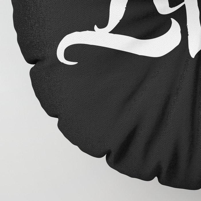 LICHT - Ambigram series (Black) Floor Pillow