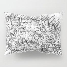Vintage Map of Jamaica (1771) BW Pillow Sham