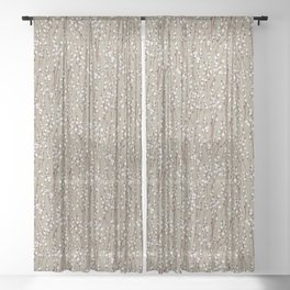 Pussywillow Pattern — Taupe Sheer Curtain