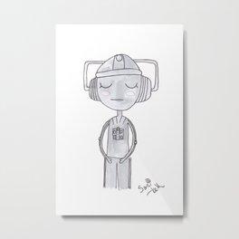 Doctor Who - Cyberman Metal Print