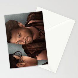 Nagron First Kiss (Agron, Spartacus) Color Version Stationery Cards