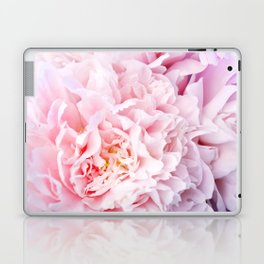 Peony Flower Photography, Pink Peony Floral Art Print Nursery Decor A happy life - Peonies 3 Laptop & iPad Skin