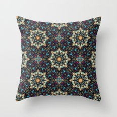 Abstract Cathedral Kaleidoscope Throw Pillow