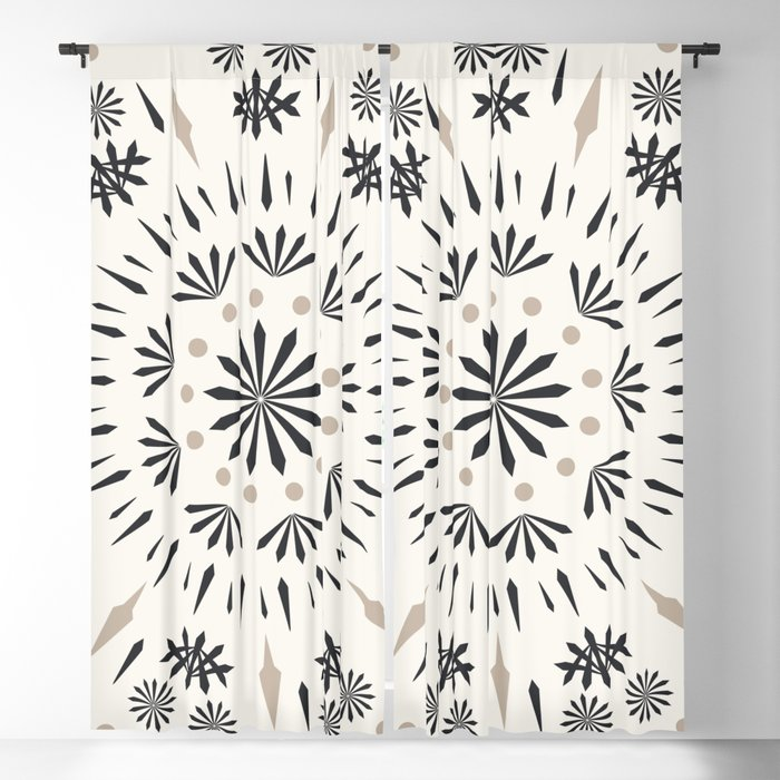 Snowflakes Scandic Nordic Blackout Curtain