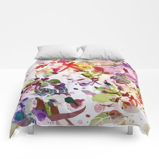 multicolore abstract fuchsia Comforters