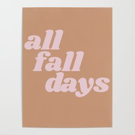 all fall days Poster