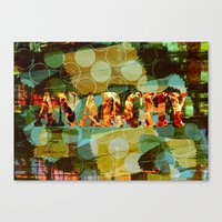 anarchy Canvas Prints featuring anarchy by laika in cosmos