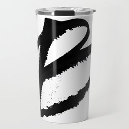 Letter B Ink Monogram Travel Mug
