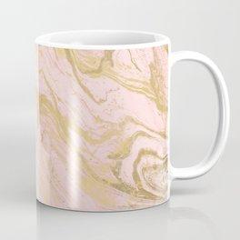 Trendy modern gold marble pastel Millennial pink Coffee Mug