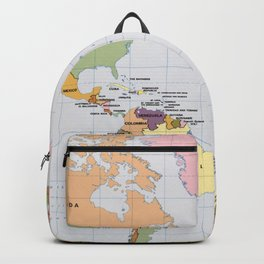 Map of The World with Countries (1987) Backpack
