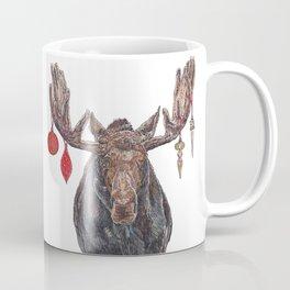 Moose with Baubles Coffee Mug
